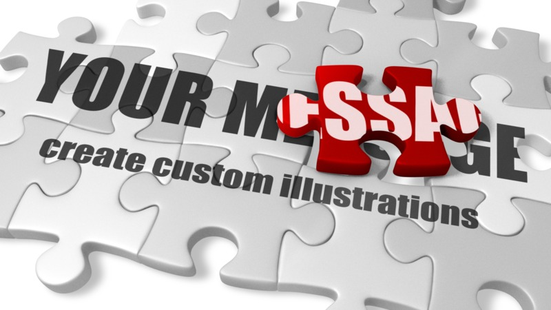 This Presentation Clipart shows a preview of Custom Puzzle Pieces
