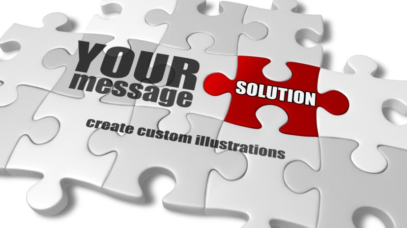 This Presentation Clipart shows a preview of Custom Puzzle Complete