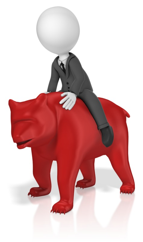 Clipart - Businessman Ride Bear