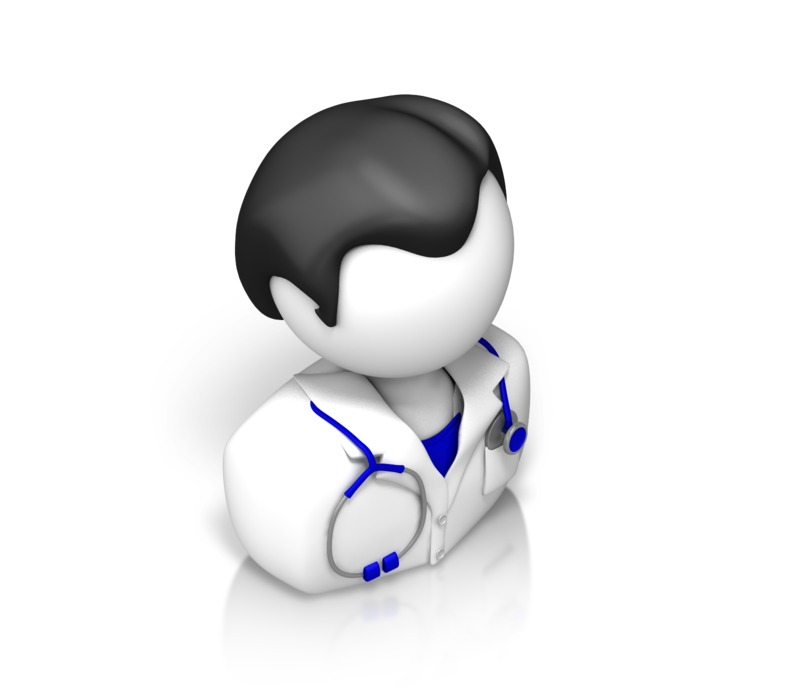 Clipart - Male Doctor Isometric