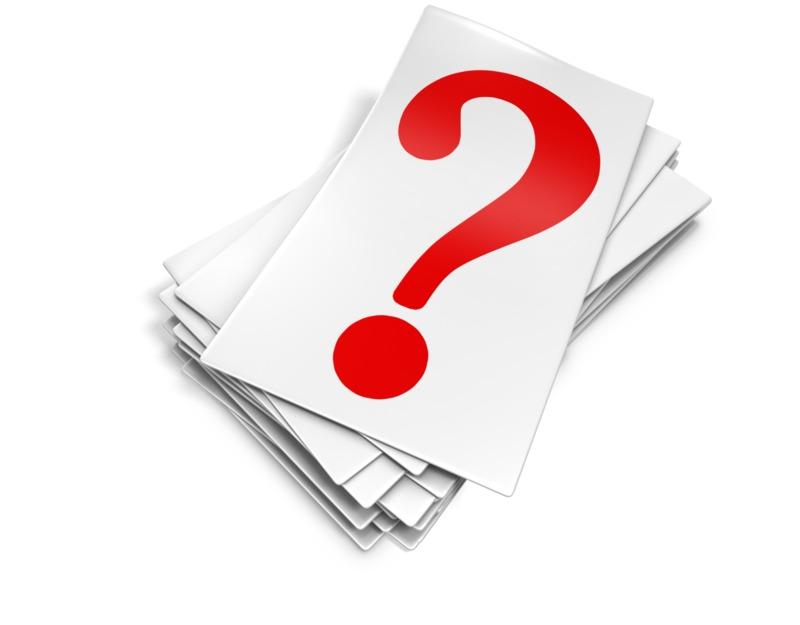 Clipart - Question Mark Card Pile