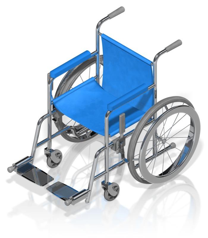 Clipart - Wheelchair Isometric