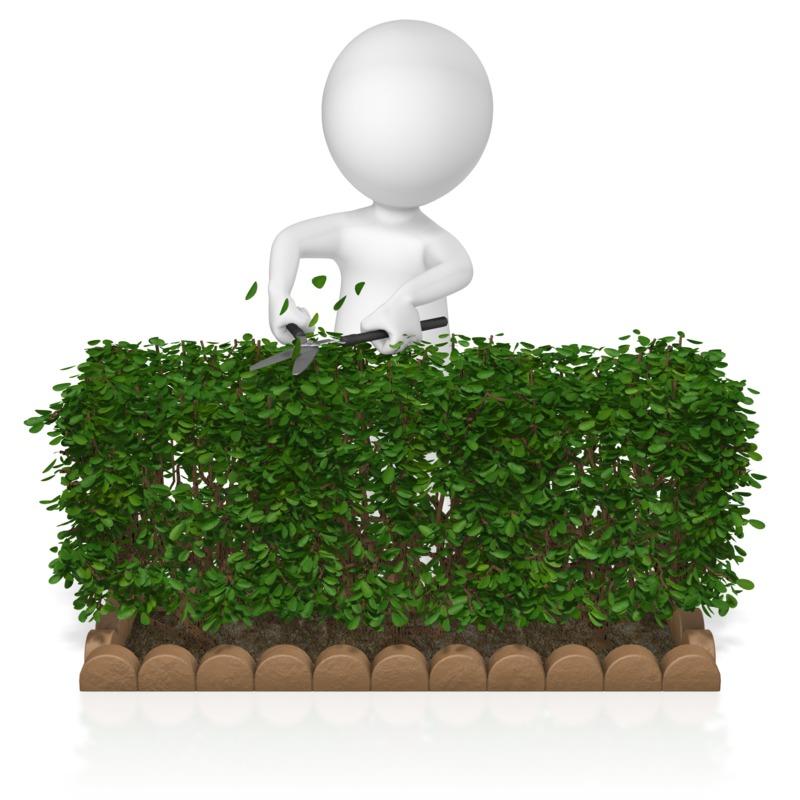 Clipart - Figure Trim Hedge