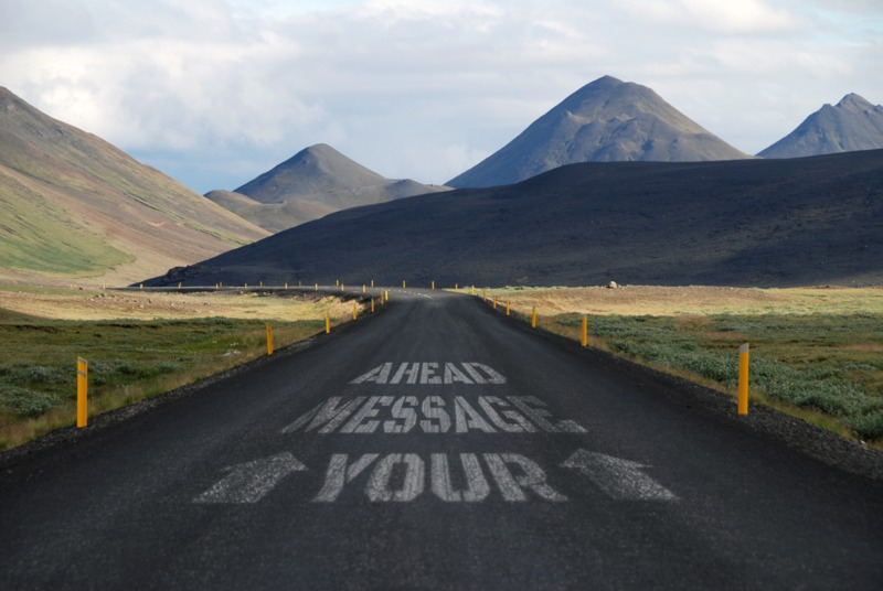Customize the message painted on this road using our on-line tools.