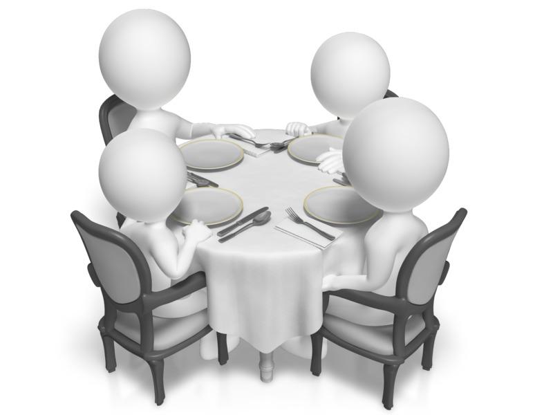 Clipart - Dinner Table Family