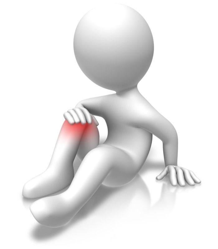 Clipart - Knee Problems Injury