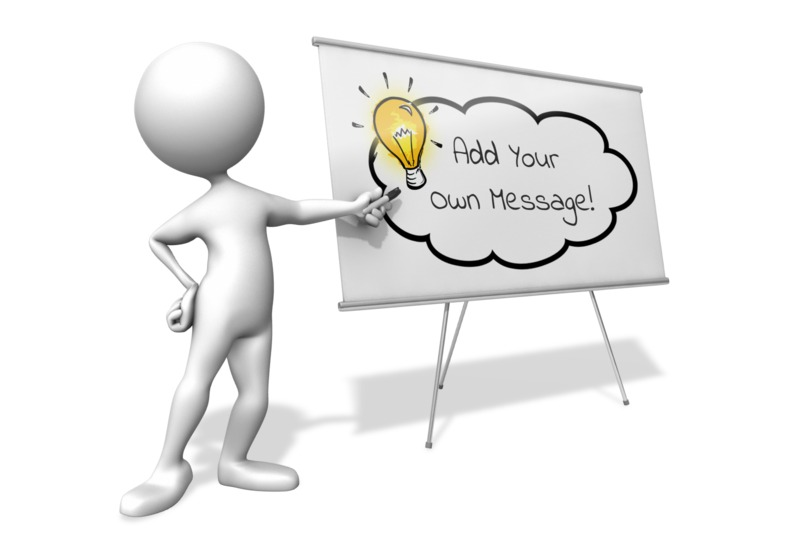 This Presentation Clipart shows a preview of Figure White Board