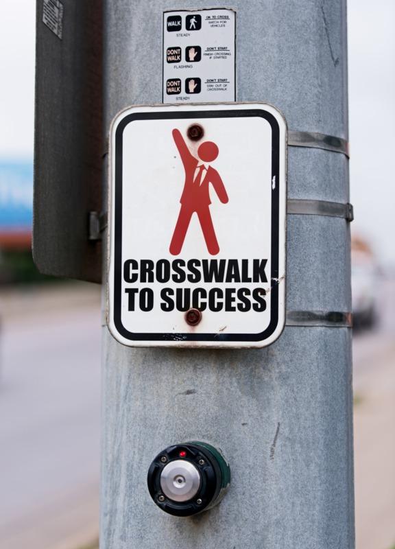 Put your own custom design on this crosswalk sign.
