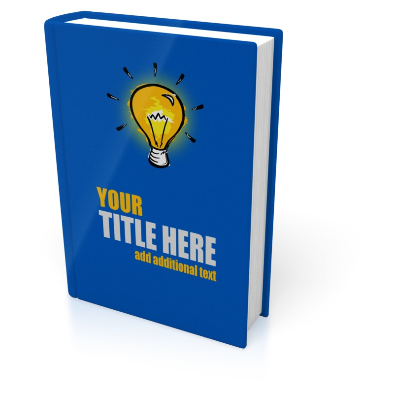 This Presentation Clipart shows a preview of Upright Book Cover