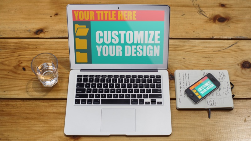 This Presentation Clipart shows a preview of Cross Device Design Custom