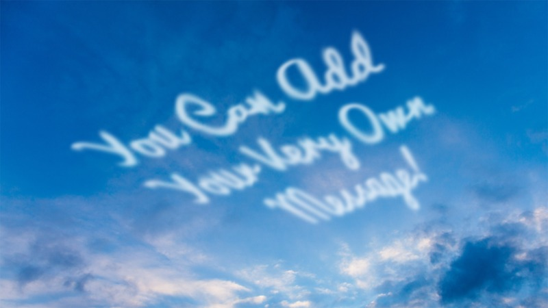 This Presentation Clipart shows a preview of Skywriting