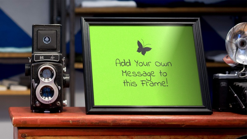 This Presentation Clipart shows a preview of Camera And Frame