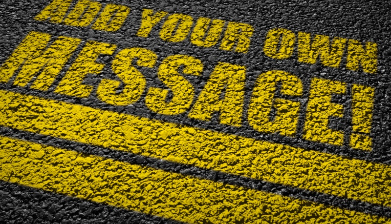 This Presentation Clipart shows a preview of Custom Asphalt Writing
