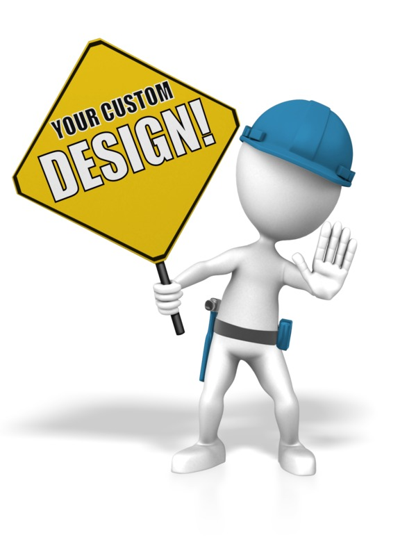 This Presentation Clipart shows a preview of Construction Custom Sign