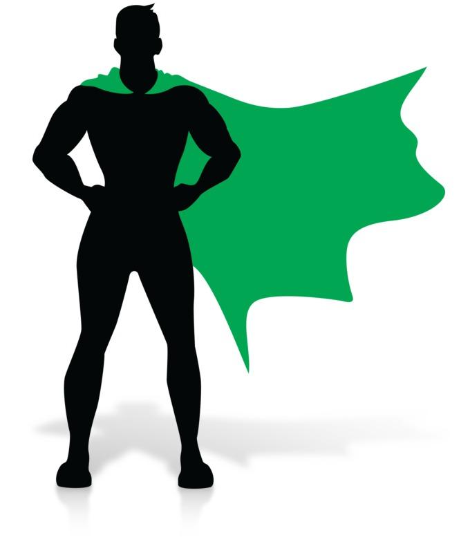 Clipart - Hero Super Stance Silhoutte