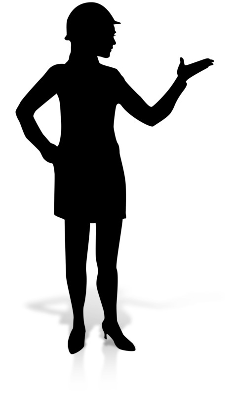 Clipart - Woman Display Construction Silhoutte