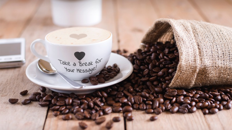 This Presentation Clipart shows a preview of Coffee Break