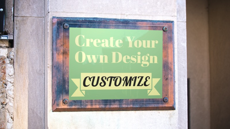 This Presentation Clipart shows a preview of Bronze Wall Plaque Custom