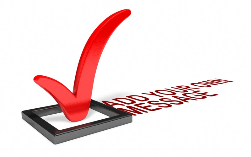 This Presentation Clipart shows a preview of Checkbox Custom