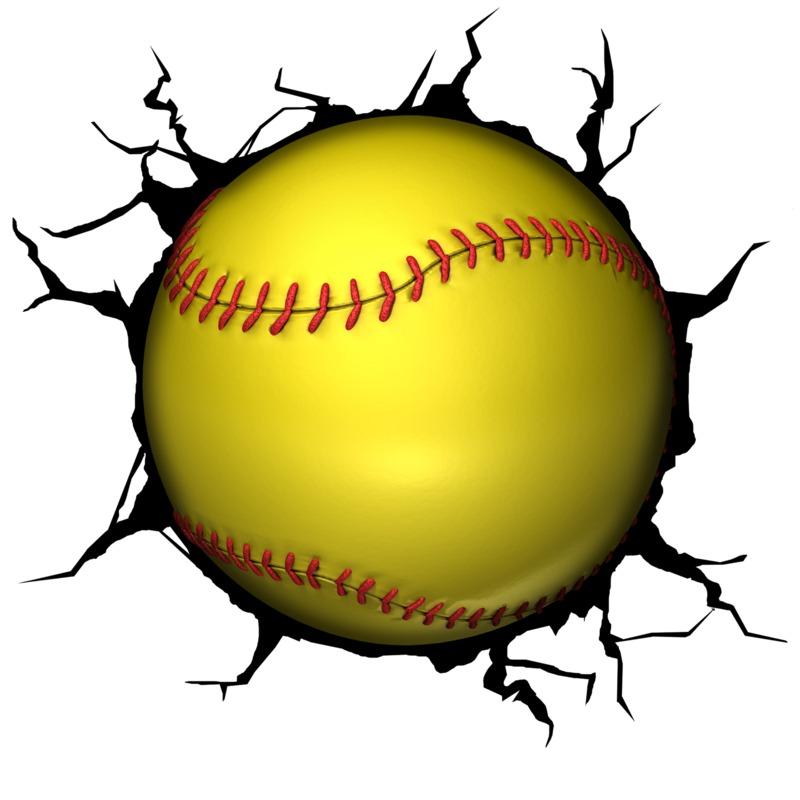 Clipart - Softball Break Through
