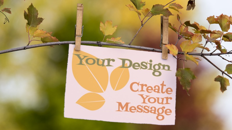 This Presentation Clipart shows a preview of Message Card On Branch