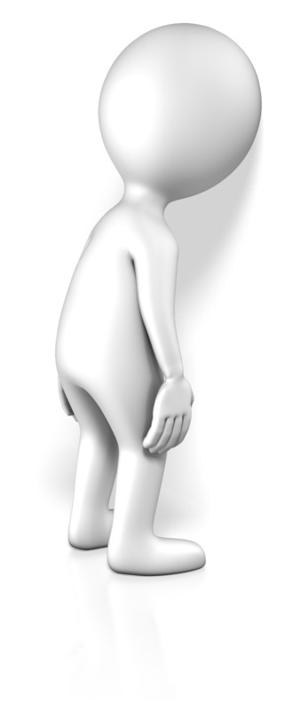 Clipart - Figure With Head Against Wall