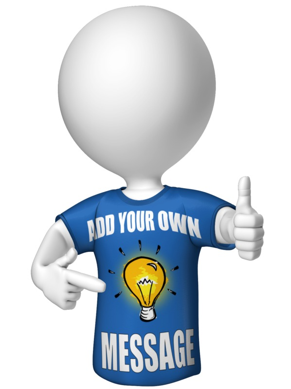 This Presentation Clipart shows a preview of Figure In Custom Shirt