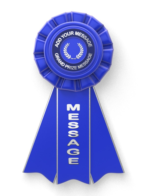 This Presentation Clipart shows a preview of Blue Ribbon Custom