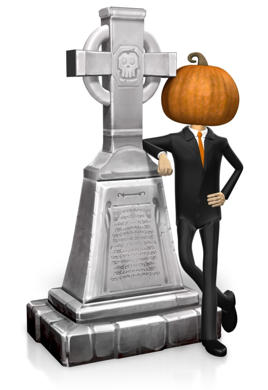 Clipart - Business Halloween Grave