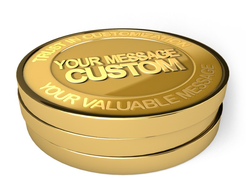 This Presentation Clipart shows a preview of Gold Coin Custom