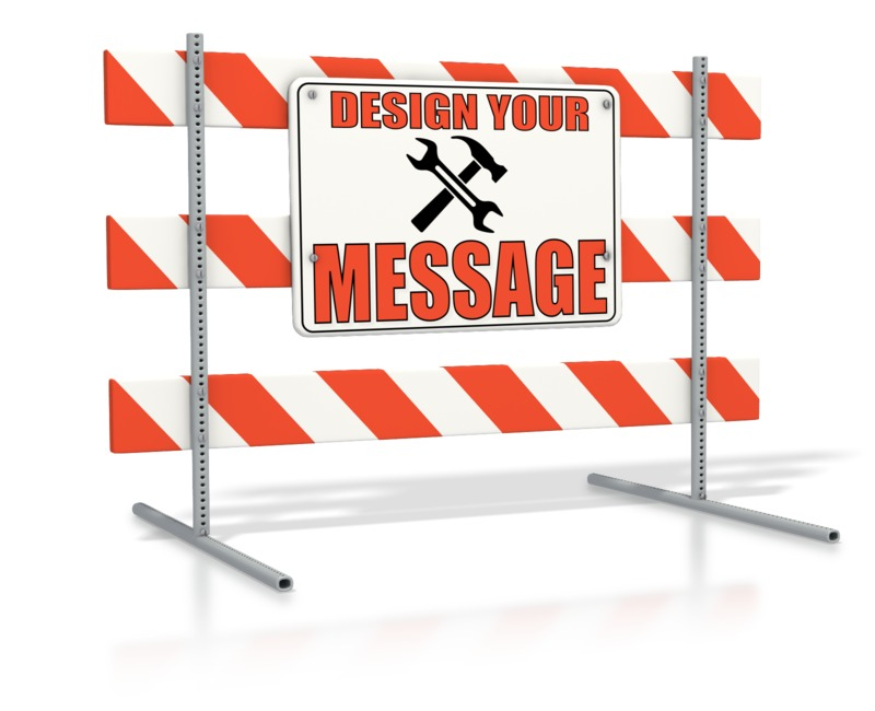 This Presentation Clipart shows a preview of Road Sign Block Custom