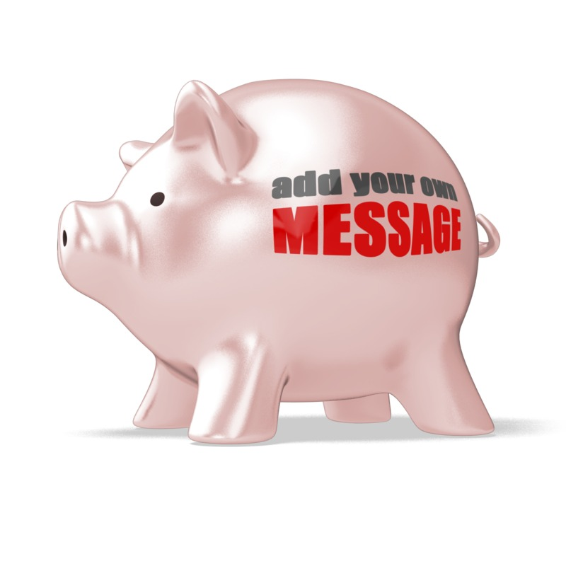 This Presentation Clipart shows a preview of Piggy Bank Custom