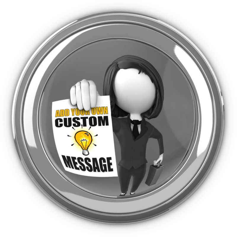 This Presentation Clipart shows a preview of Businesswoman In Eyehole With Sign