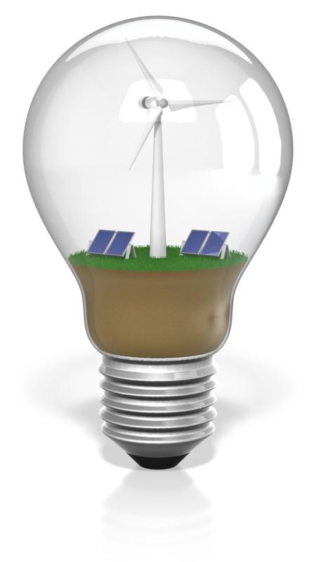 Clipart - Light bulb Renewable Energy