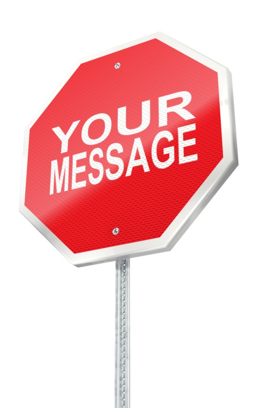 This Presentation Clipart shows a preview of Stop Sign Custom