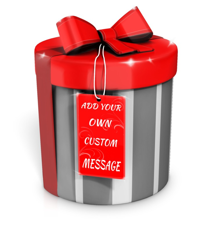 This Presentation Clipart shows a preview of Present with Custom Card