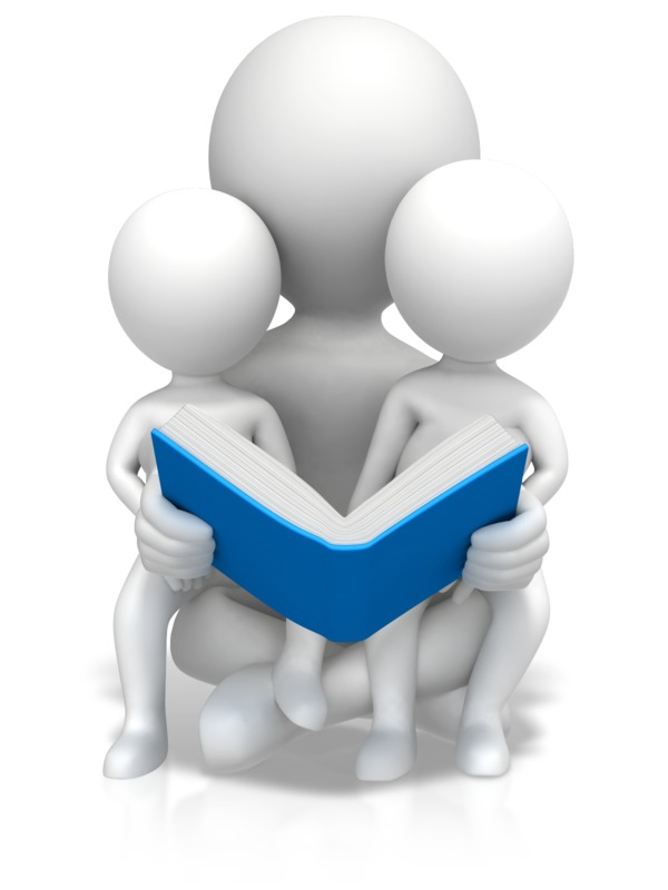 Clipart - Figure Reading To Children