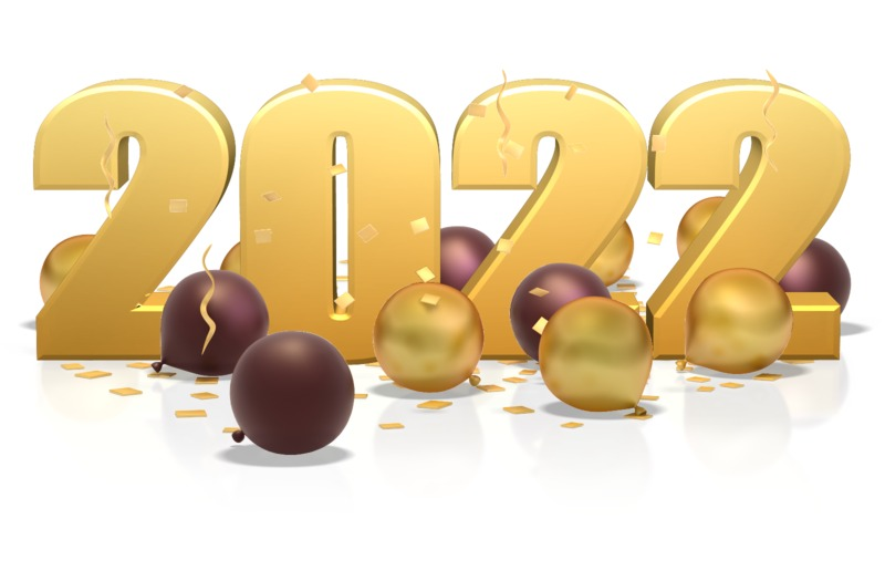 This Presentation Clipart shows a preview of Custom Year In Balloons And Confetti