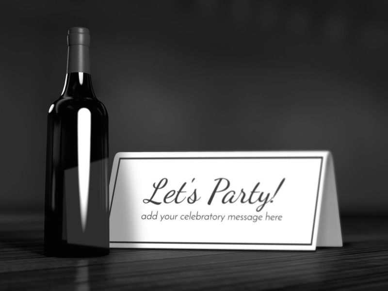 This Presentation Clipart shows a preview of Wine Bottle Card