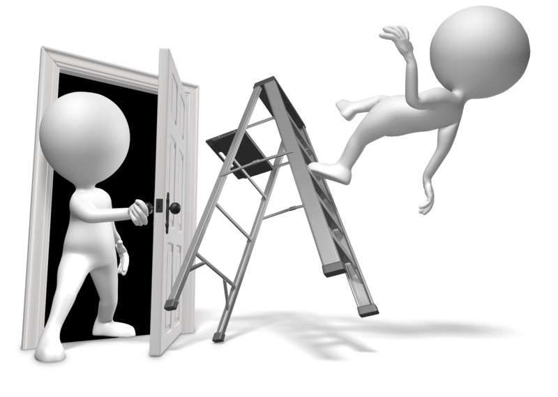 Clipart - Walk Through Door Accident