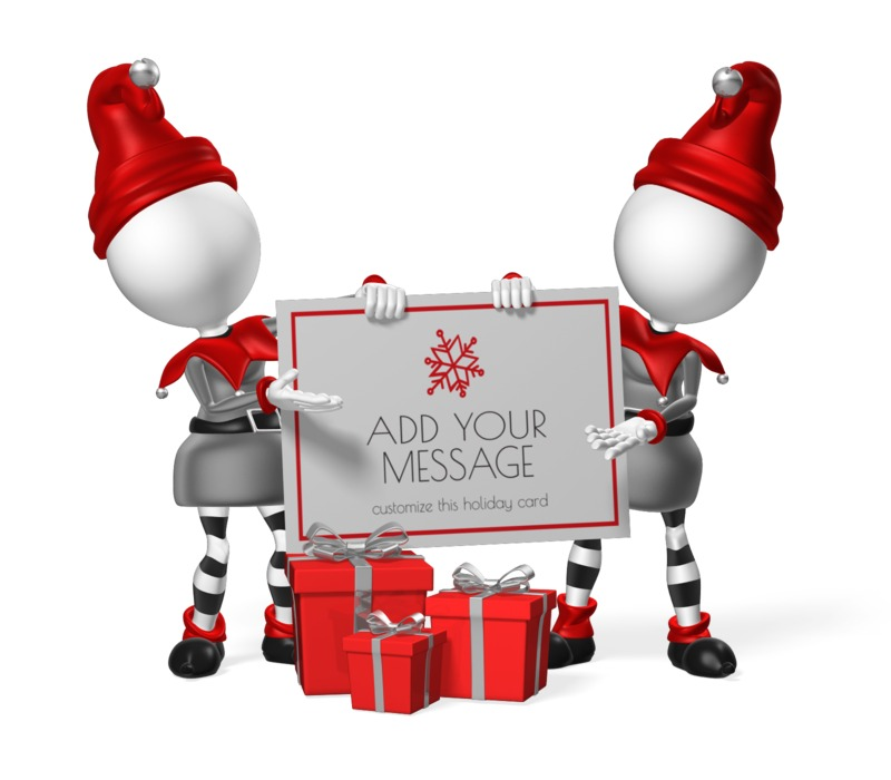 This Presentation Clipart shows a preview of Elves Custom Sign