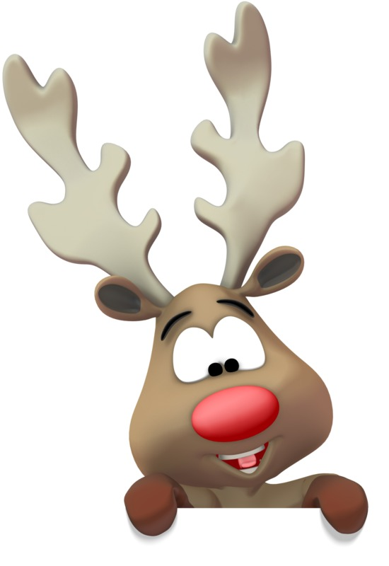 Clipart - Reindeer Presenting Below