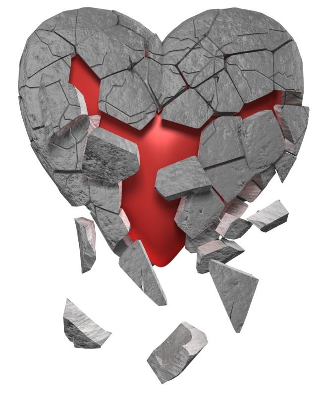 Clipart - Breaking Heart Of Stone