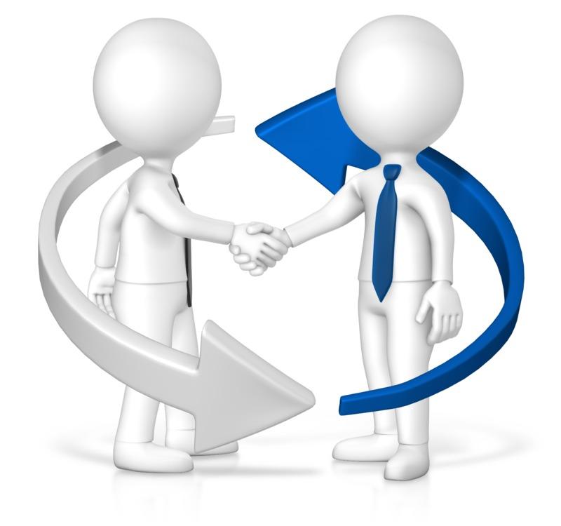 Clipart - Business Handshake Arrow