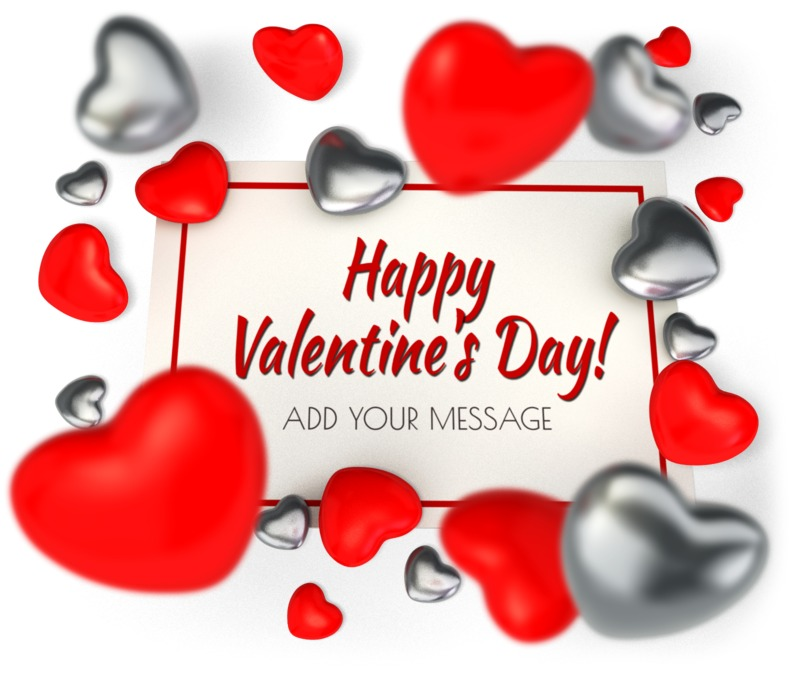 This Presentation Clipart shows a preview of Valentine Card