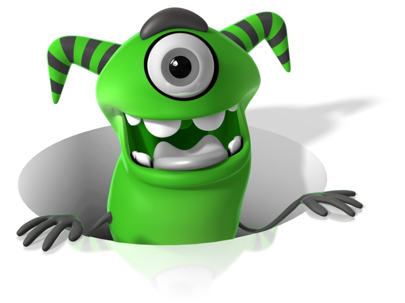 Clipart - M Monster In Hole
