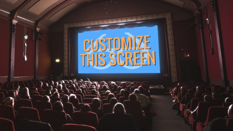 This Presentation Clipart shows a preview of Movie Theater Custom