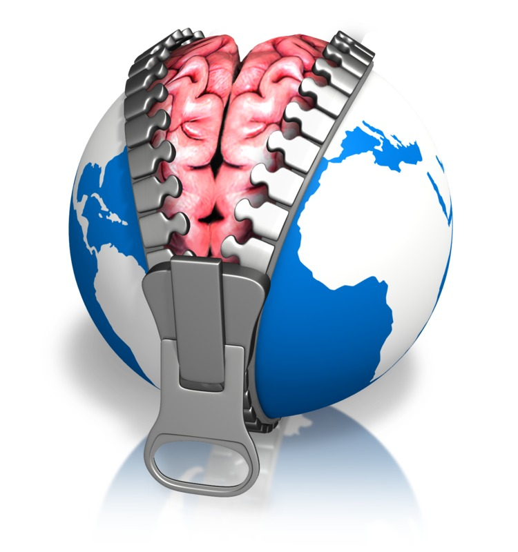 Clipart - Global Brain Reveal Earth