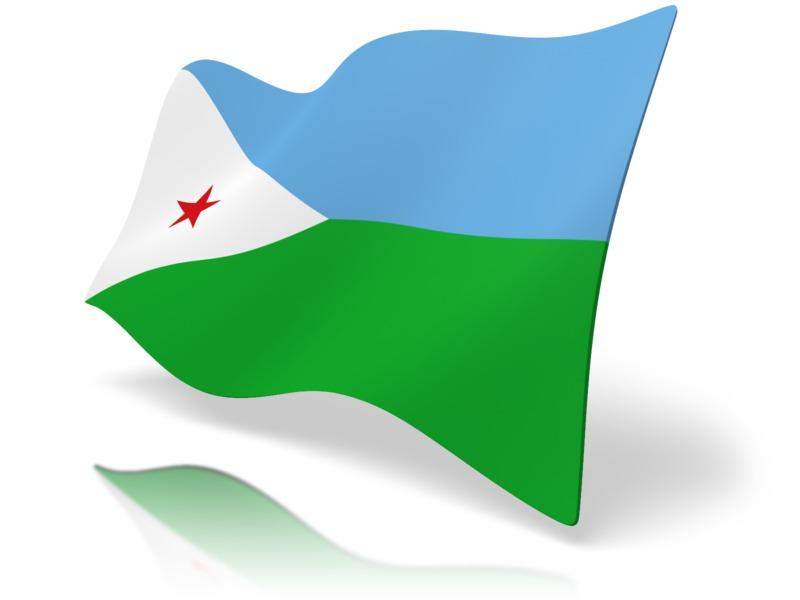 Clipart - Flag Djibouti
