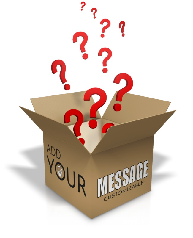This Presentation Clipart shows a preview of Question Box Custom